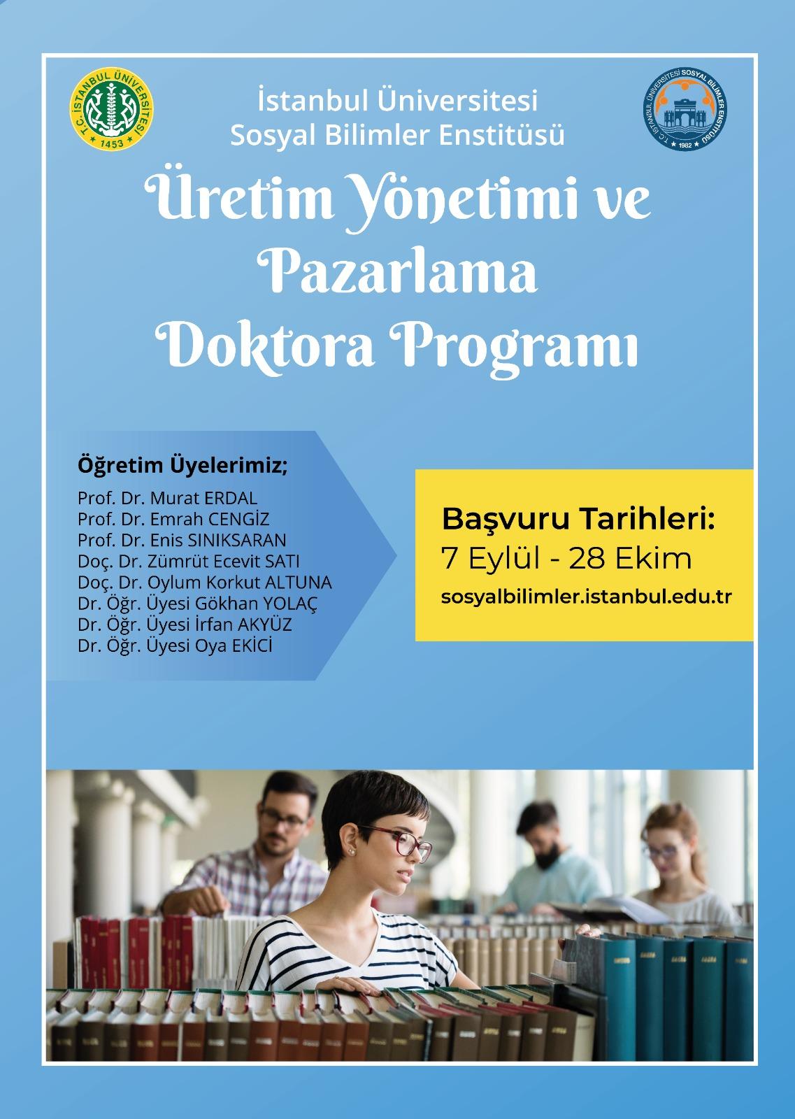 Üretim Yönetimi ve Pazarlama Doktora Programı Açıldı.