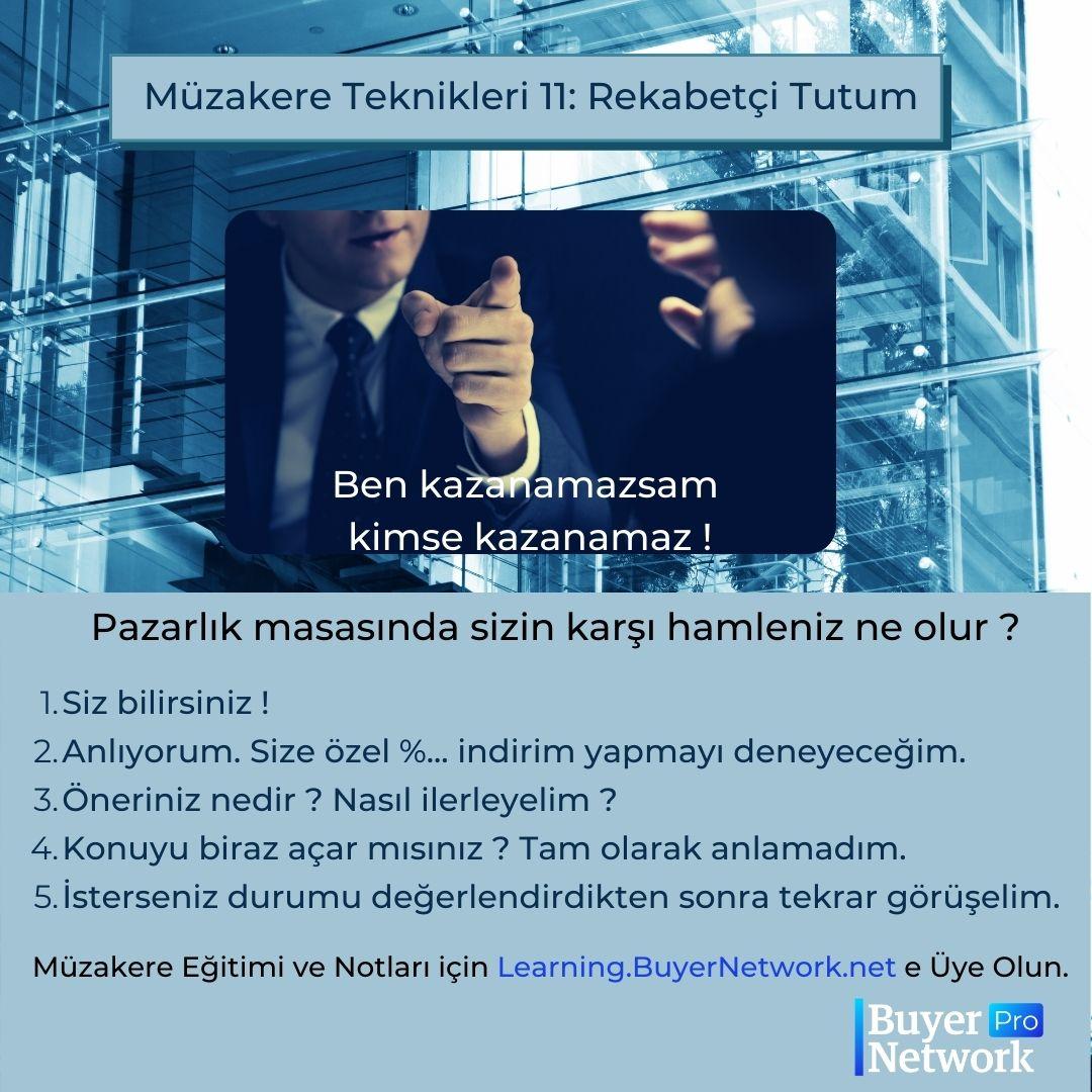 Müzakere Teknikleri Eğitimi, Pazarlık Taktikleri-11