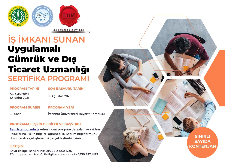 İş İmkanı Sunan ''Uygulamalı Gümrük ve Dış Ticaret Uzmanlığı'' Sertifika Programı