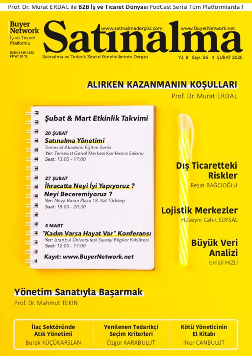 Satınalma Dergisi Şubat 2020 Sayısı