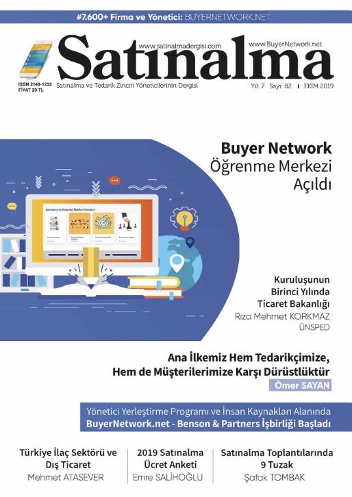 Satınalma Dergisi Ekim 2019 Sayısı