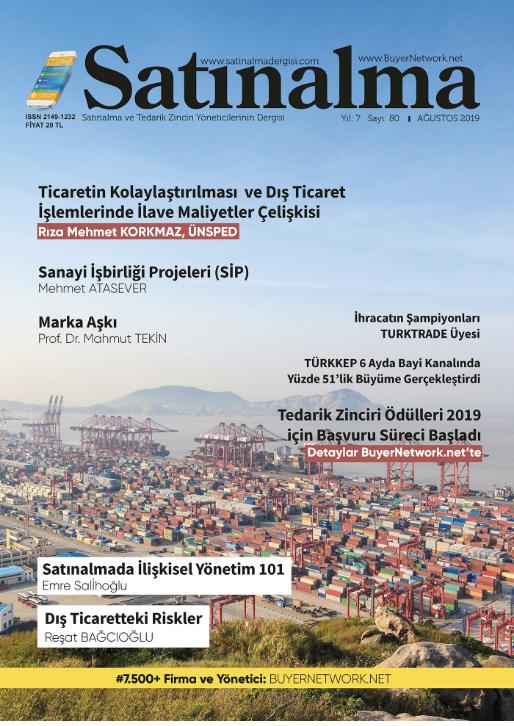 Satınalma Dergisi Ağustos 2019 Sayısı