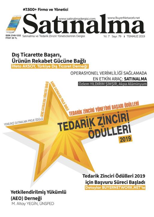 Satınalma Dergisi Temmuz 2019 Sayısı