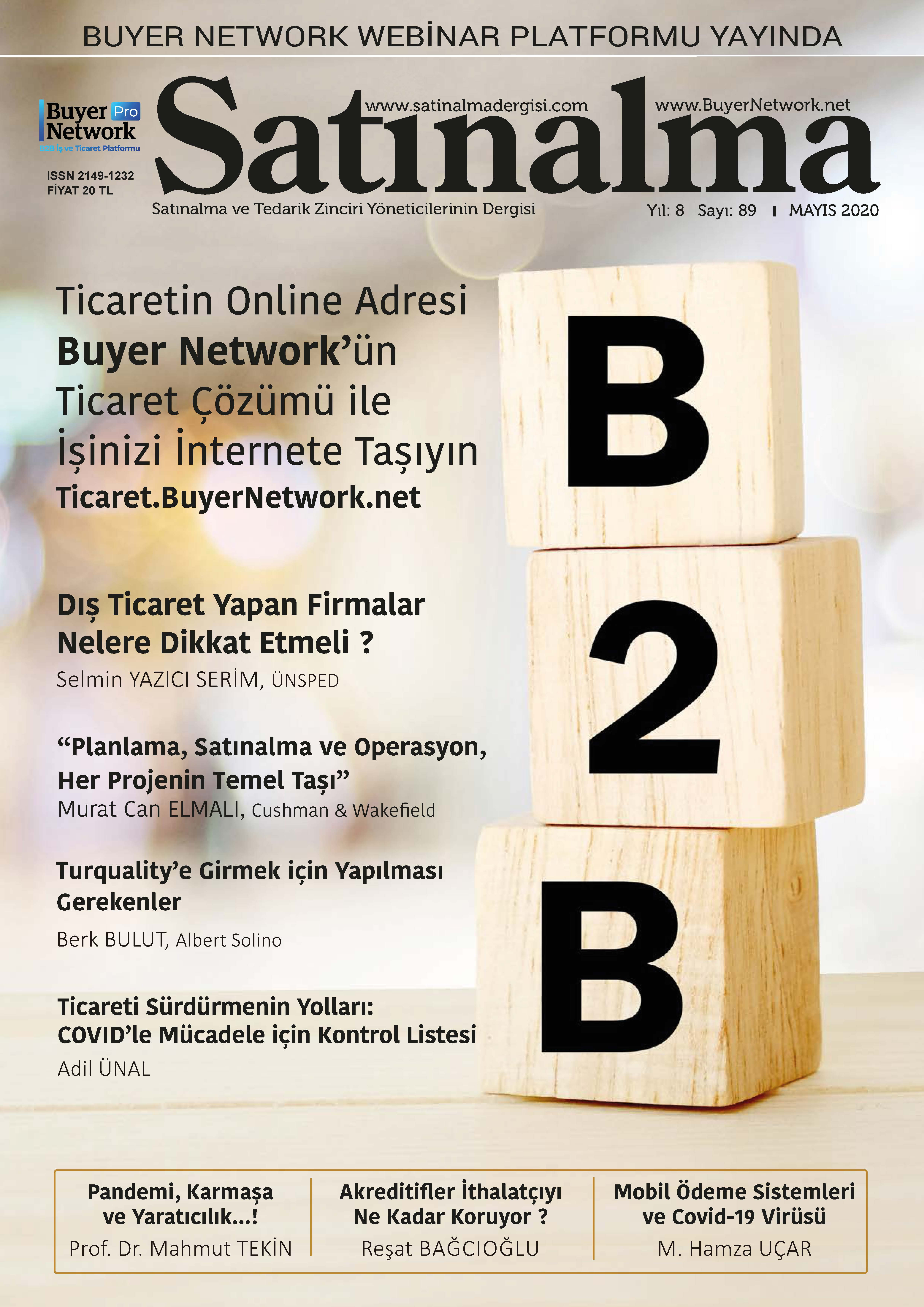Satınalma Dergisi Mayıs 2020