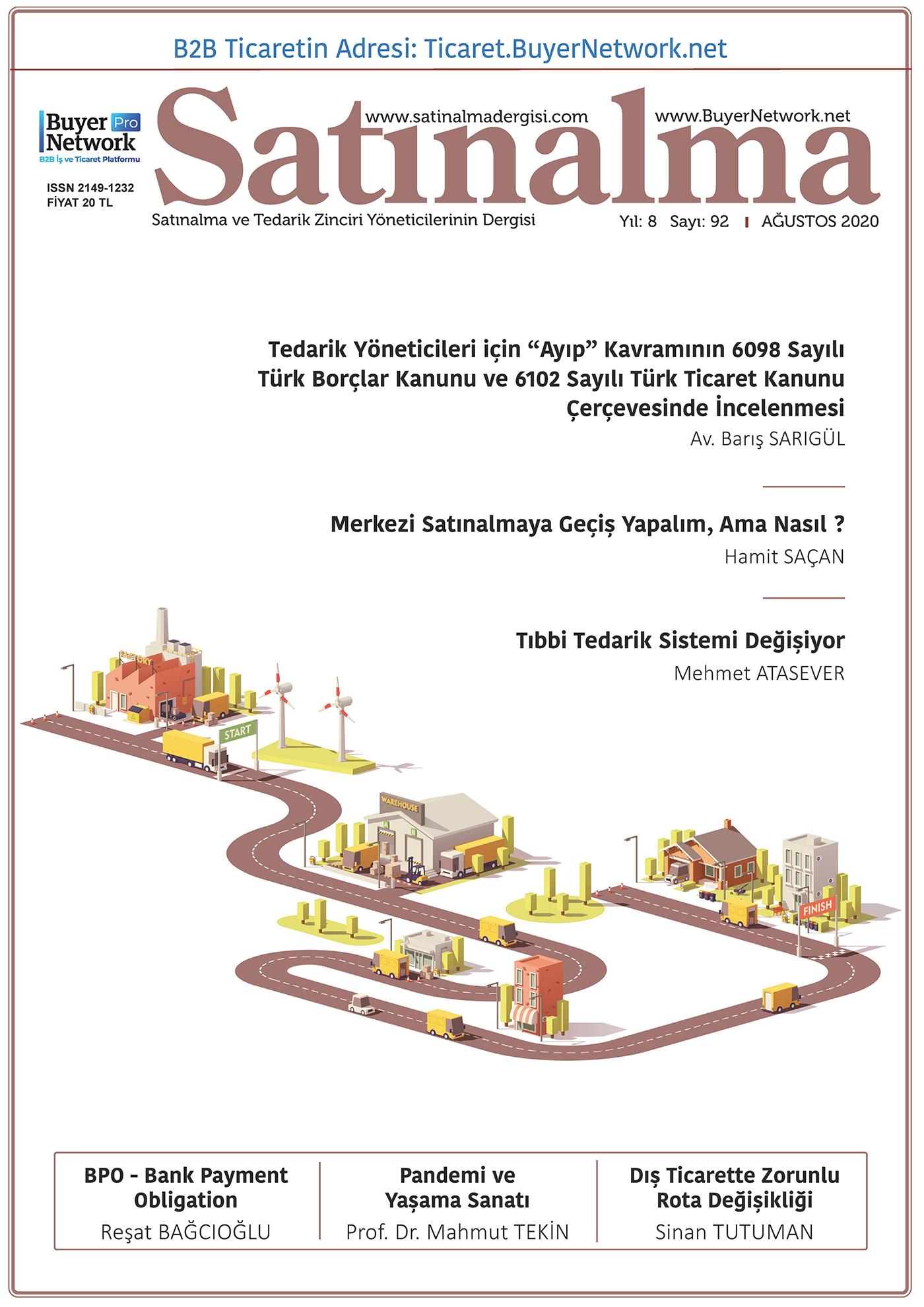 Satınalma Dergisi Ağustos 2020