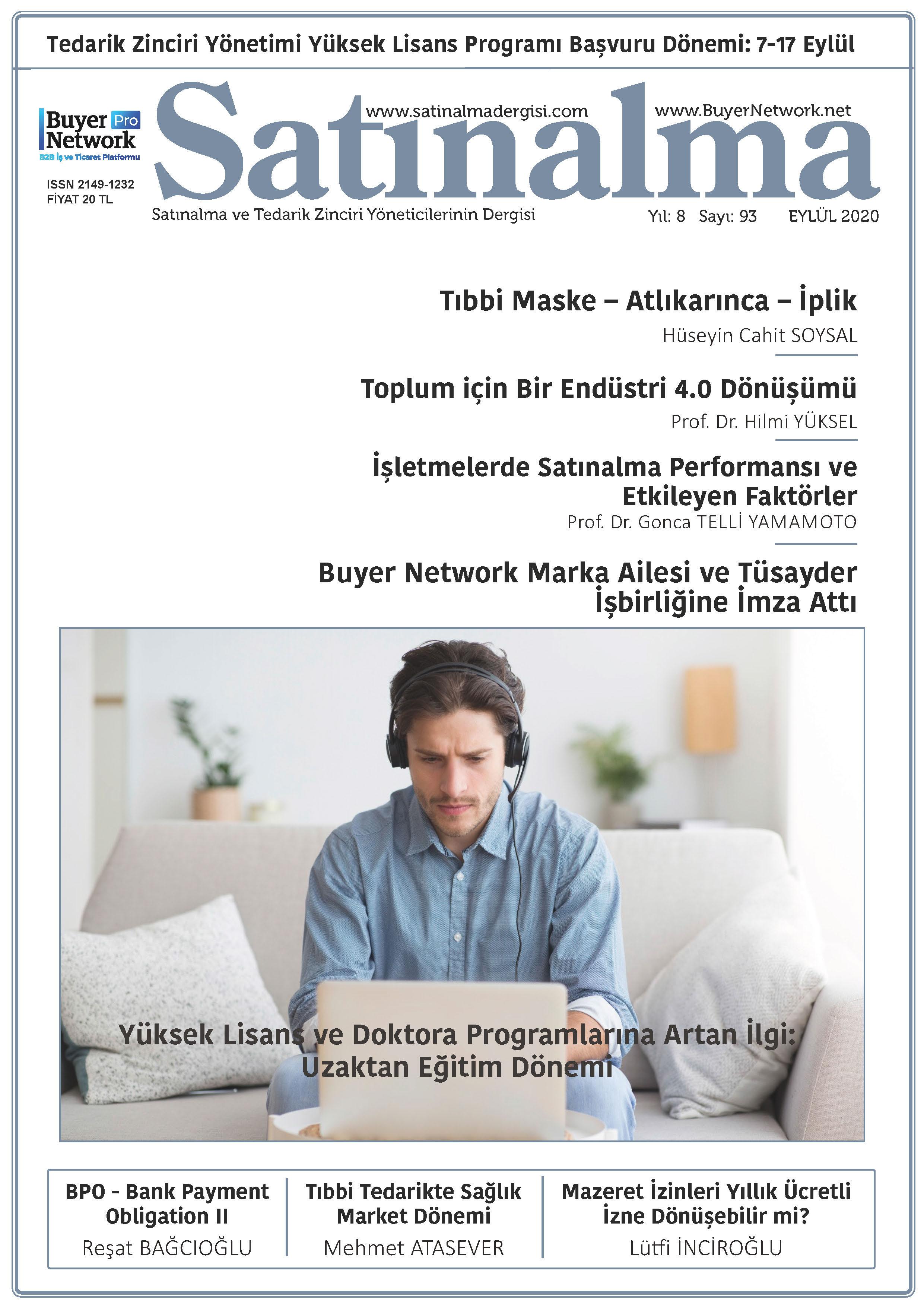 Satınalma Dergisi Eylül 2020