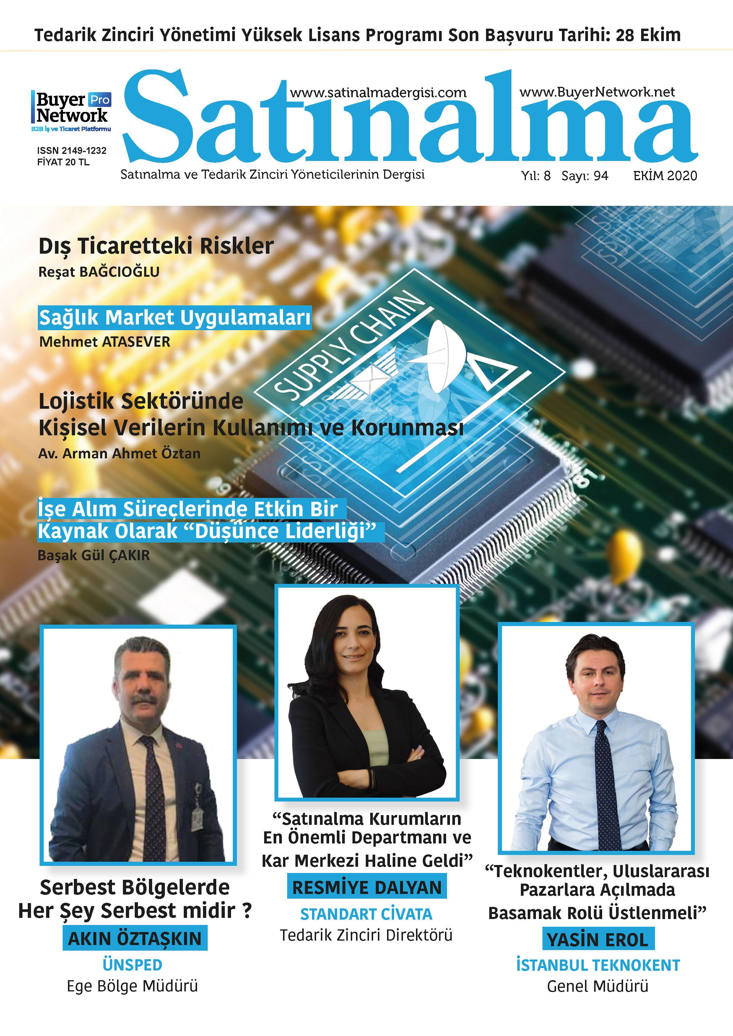 Satınalma Dergisi Ekim 2020