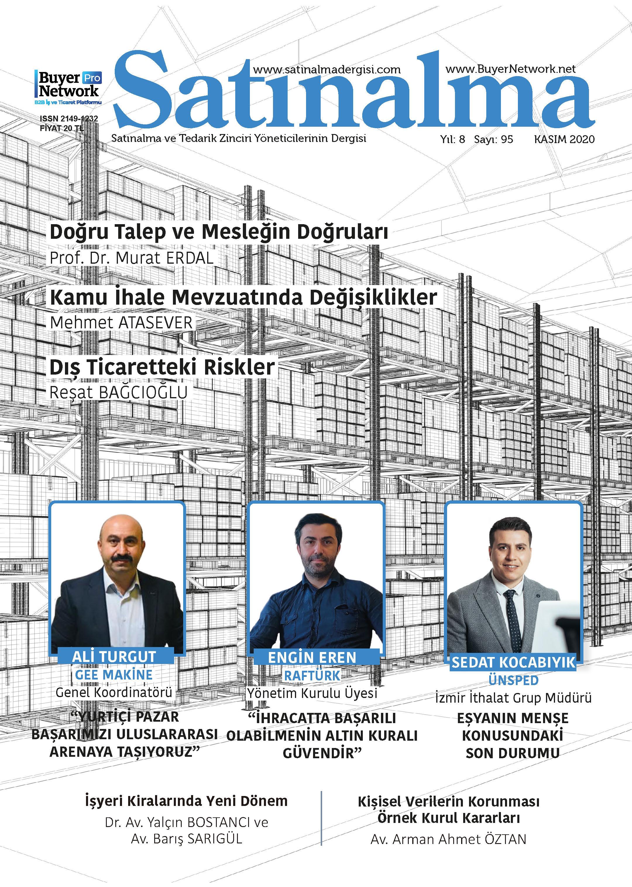 Satınalma Dergisi Kasım 2020