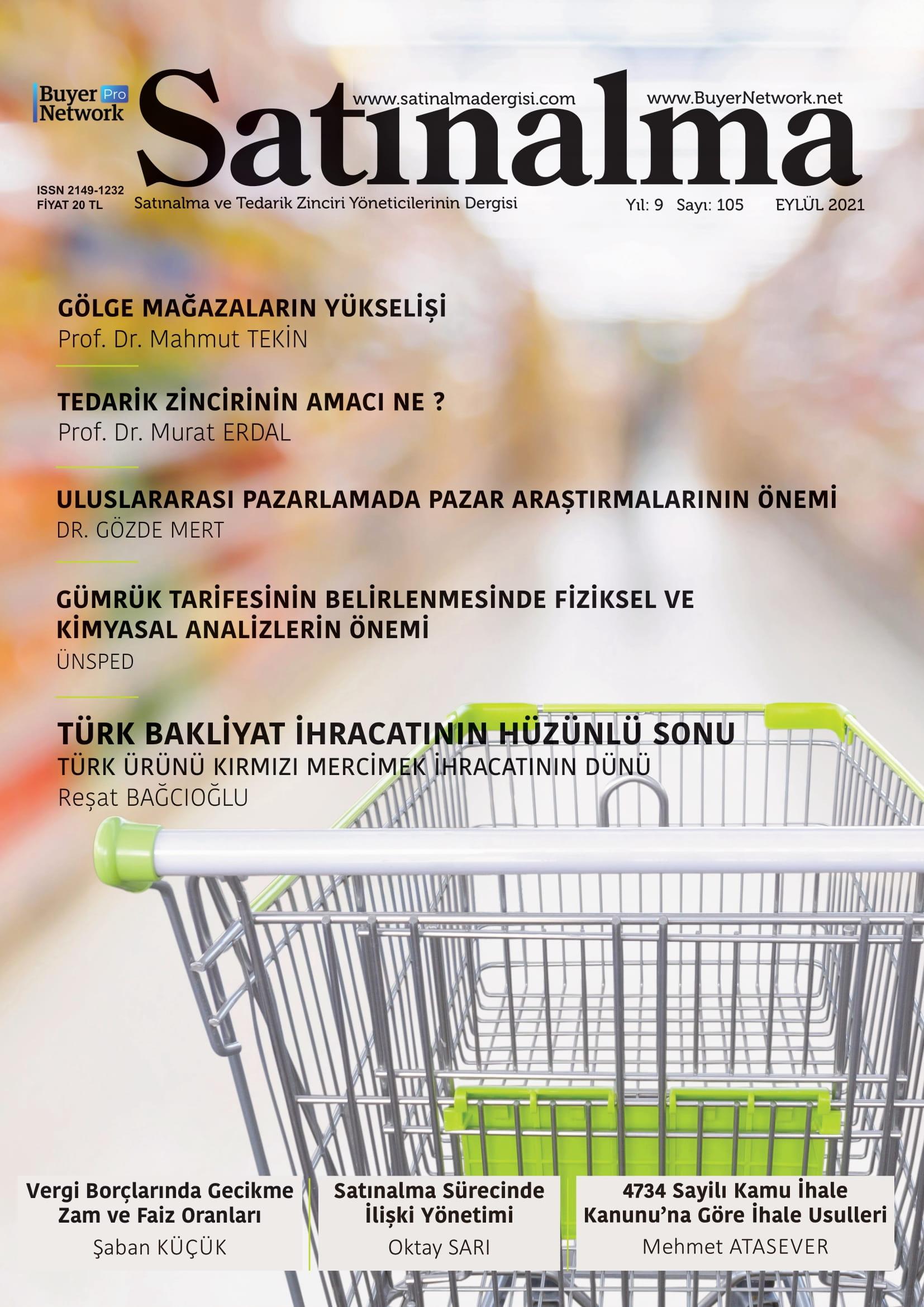 Satınalma Dergisi Eylül 2021